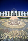Aboriginal mosaic, Parliament, Canberra, Australia.