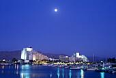 Hotels, Lagoon, Eilat skyline, Israel.