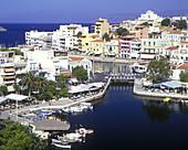 Lagoon, Agios nikolaos, Crete, Greece.