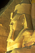 Ramses ii statue, Temple of ramses ii, Abu simbel ruins, Egypt.