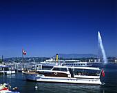 Water jet, Geneva, Switzerland.