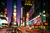 Street scene, Times square, Mid-town, Manhattan, New York, USA.