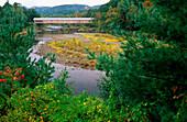 Covered Bridge & Landscape near Dummerston. Vermont. USA