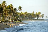 Tourists relax at Forte s beach. Bahia, Brazil