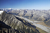 New Zealand, South Island, Dobson River and Aoraki / Mt Cook - aerial