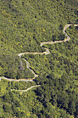 New Zealand, South Island, Marlborough Sounds, Queen Charlotte Drive - aerial. 2005