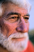 Adult, Adults, Aged, Beard, Beards, Caucasian, Caucasians, Close up, Close-up, Closeup, Color, Colour, Contemporary, Daytime, Elderly, Exterior, Face, Faces, Facial expression, Facial expressions, Gray-haired, Grey-haired, Headshot, Headshots, Human, Lif