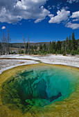 Morning Glory Pool. Yellowstone National Park. Wyoming. USA