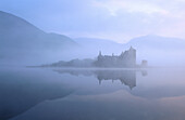 Kilchurn Castle and Loch Awe at dawn. Argyll. Scotland