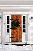 America, Bethel, Celebrate, Celebrating, Celebration, Celebrations, Christmas, Closed, Color, Colour, Daytime, Door, Doors, Entrance, Entrances, Entries, Entry, Exterior, Holiday, Holidays, House, Houses, Maine, New England, Nobody, North America, Old fa