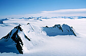 Glaciers: Harding icefield, Kenai Fjords National Park. Alaska. USA