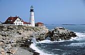 Portland Head Light. Fort Williams Park. Cape Elizabeth. Maine. USA