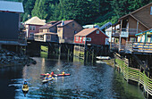Kayaks. Creek Street district. Ketchikan. Alaska. USA