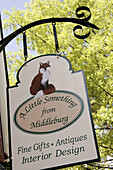 Virginia, Middleburg, Washington Street, sign, A Little Something from Middleburg, gifts, antiques