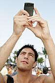 Florida, Miami Beach, Lummus Park, Super Bowl XLI. Cell phone camera