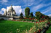 Sacre Coeur and gardens. Paris. France