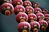 Red lanterns. China