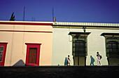 Colorful façades. Oaxaca City. Mexico