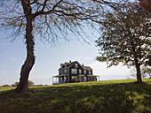 New England house on Block Island, a coastal island that is part of Rhode Island.