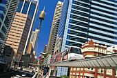 Monorail. Darling Harbour. Central Business District. Sydney. Australia
