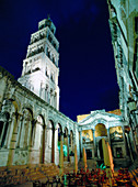 St. Duje s Cathedral Tower (aka St. Domnius) and Peristyle. Split. Croatia.