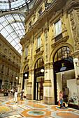 Italy. Lombardy. Milan. Galleria Vittorio Emanuele II. Louis Vuitton shop