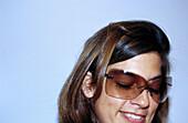 ry, Eyeglasses, Face, Faces, Female, Generation X, Glasses, Grin, Grinning, Headshot, Headshots, Hori
