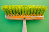Brush, Brushes, Clean, Cleaning, Close up, Close-up, Closeup, Color, Colour, Concept, Concepts, Detail, Details, Green, Horizontal, Indoor, Indoors, Interior, Object, Objects, One, One item, Still life, Thing, Things, CatV9, G64-614324, agefotostock