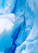 Blue glacier ice. Norway