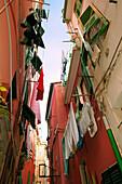 Looking Up at Apartments Vernazza, Cinque Terre, Italy