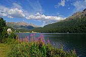Lake St. Moritz, Upper Engadin, Grisons, Switzerland