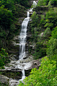 cascade in valley of Verzasca, Ticino, Switzerland