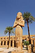 statue of Ramses in temple of Karnak, Egypt, Africa