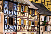 Half-timbered houses in Little Venice, la Petite Venise, Colmar, Alsace, France