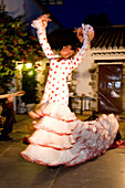 Woman performing flamenco dance, Seville, Andalusia, Spain