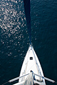 A sailing boat, yacht from above, sailing trip, Croatia