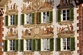 Lüftlmalerei am Hänsel und Gretel Heim, Oberammergau, Bayern, Deutschland