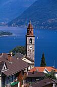 Ronco sopra Ascona and Maggiore Lake. Tessin. Switzerland