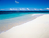 White sand beach of shoal bay. Caribbean. Anguilla. UK