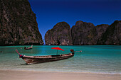 Long-tail boat at May Bay, Phi Phi Island, Krabi, Thailand