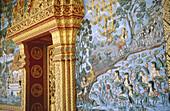 Doorway, Wat Hosian. Luang Prabang. Laos