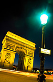 Arc de Triomphe in Plaza Charles de Gaulle. Paris. France