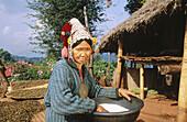 Akha woman. Akha Hilltribe. Golden triangle. Chiang Rai. Thailand