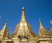 Architecture, Art, Arts, Asia, Buddhism, Buddhist, Buddhists, Building, Buildings, Burma, Color, Colour, Daytime, Detail, Details, Exterior, Golden, Historic, Historical, History, Horizontal, Landmark, Landmarks, Low angle view, Myanmar, Oriental, Orname