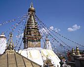 Buddhist temple Swayambhunath. Kathmandu. Nepal.
