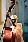 Street musician. Santiago de Cuba. Cuba
