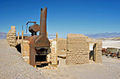 Ruins of the furnace at Harmony Borax Works, Death Valley National Park, California
