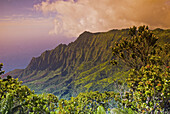 Kalalau Valley from the Pihea Trail, Koke e State Park, Island of Kauai, Hawaii