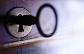 Close up, Close-up, Color, Colour, Concept, Concepts, Detail, Details, Enigma, Enigmas, Horizontal, Indoor, Indoors, Inside, Interior, Key, Keyhole, Keyholes, Keys, Lock, Locked, Locks, Object, Objects, Old, Old-fashioned, One, One item, Symbolic, Thing,