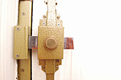 Close up, Close-up, Closeup, Color, Colour, Concept, Concepts, Detail, Details, Door, Doors, Horizontal, Indoor, Indoors, Inside, Interior, Lock, Locked, Locks, Metal, Security, G85-229615, agefotostock